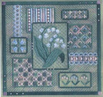LILY OF THE VALLEY COLLAGE  Laura J Perin Designs Counted Canvas Pattern