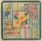 DAISY COLLAGE Laura J Perin Designs Counted Canvas Pattern
