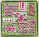 AZALEA COLLAGE (CS) 166 x 166 - 18ct canvas Laura J Perin Designs Counted Canvas Pattern Only