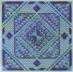 ACE OF DIAMONDS (CC) 174 x 174 - 18ct canvas Laura J Perin Designs Counted Canvas Pattern