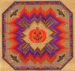 HALLOWEEN BARGELLO (CC) 186 x 186 - 18ct canvas Laura J Perin Designs Counted Canvas Pattern