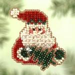 MH124 Mill Hill Seasonal Ornament / Pin Kit Santa Fir (2005)