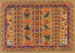 HALLOWEEN RIBBONS (CC) 222w x 156h - 18ct canvas includes: embellishments Laura J Perin Designs Counted Canvas Pattern