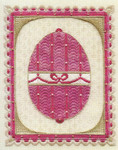 IMPERIAL EGGS I (CC) 158w x 194h - 24ct canvas  includes: embellishments Laura J Perin Designs Counted Canvas Pattern Only