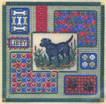 LABRADOR COLLAGE (CC) 166w x 167h - 18ct canvas  Includes: beads Laura J Perin Designs Counted Canvas Pattern