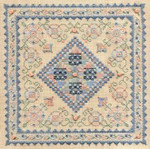 BLUE RIBBON SAMPLER Laura J Perin Designs Counted Canvas Pattern