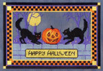 HALLOWEEN CATS Laura J Perin Designs Counted Canvas Pattern