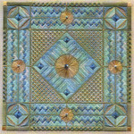 EBB TIDE W/EMBELLISHMENTS (CC) 176 x 176  Includes: embellishments Laura J Perin Designs Counted Canvas Pattern