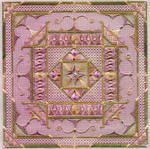 ARABESQUE (CC) 208 x 208 - 18ct canvas  includes: embellishments Laura J Perin Designs Counted Canvas Pattern