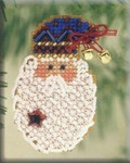 H97 Mill Hill Seasonal Ornament Kit Kris Kringle (2001)