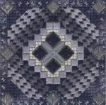 COLOR DELIGHTS - INDIGO (CC) 72 x 72 - 18ct canvas Needle Delights Originals Counted Canvas Pattern