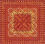 COLOR DELIGHTS - TANGERINE (CC) 72 x 72 - 18ct canvas Needle Delights Originals Counted Canvas Pattern