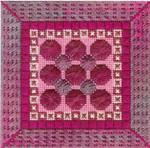 COLOR DELIGHTS - FUSCHIA (CC) 72W x 72H - 18mesh Canvas Needle Delights Originals Counted Canvas Pattern