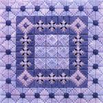 COLOR DELIGHTS - WISTERIA (CC) 72 x 72 - 18ct canvas Needle Delights Originals Counted Canvas Pattern
