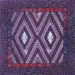 COLOR DELIGHTS - PLUM (CC) 72 x 72 - 18ct canvas Needle Delights Originals Counted Canvas Pattern