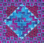 DOUBLE DELIGHTS - TURPLE (CC) 72 x 72 - 18ct canvas Needle Delights Originals Counted Canvas Pattern