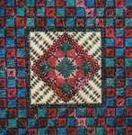 DOUBLE DELIGHTS - WINE & PINE (CC) 72 x 72 - 18ct canvas Needle Delights Originals Counted Canvas Pattern