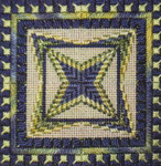 DOUBLE DELIGHTS - NOLIVE (CC) 72 x 72 - 18 mesh canvas Needle Delights Originals Counted Canvas Pattern