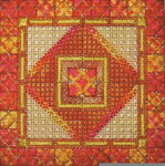 DOUBLE DELIGHTS - TANGELLO (CC) 72 x 72 - 18ct canvas Needle Delights Originals Counted Canvas Pattern