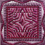 DOUBLE DELIGHTS - PLUMBERRY (CC) 72 x 72 - 18ct canvas Needle Delights Originals Counted Canvas Pattern