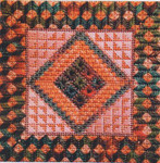 DOUBLE DELIGHTS - PEACH FOREST (CC) 72 x 72 - 18ct canvas Needle Delights Originals Counted Canvas Pattern