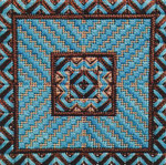 DOUBLE DELIGHTS - CHAQUA (CC) 72 x 72 - 18ct canvas Needle Delights Originals Counted Canvas Pattern