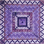 COLOR DELIGHTS - PERIWINKLE (CC) 72 x 72 - 18ct canvas Needle Delights Originals Counted Canvas Pattern