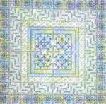 COLOR DELIGHTS - MINT (CC) 72 x 72 - 18ct canvas Needle Delights Originals Counted Canvas Pattern