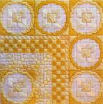 COLOR DELIGHTS - LEMON (CS) 72 x 72 - 18ct canvas Needle Delights Originals Counted Canvas Pattern