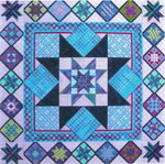 BURST OF STARS (CC) 252W x 252H - 18ct Canvas Needle Delights Originals Counted Canvas Pattern