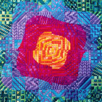 RIPPLE ROTATION 1 (CC) 144 x 144 - 18ct canvas Needle Delights Originals Counted Canvas Pattern
