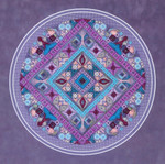 DIAMOND EYES (CC) 184 x 184 Threedles Counted Canvas Pattern