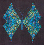 MARIPOSA (CC) 214w x 215h Threedles Counted Canvas Pattern