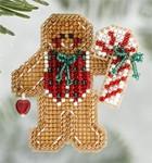 MH186306 Mill Hill Seasonal Ornament / Pin Kit Gingerbread Boy (2006)