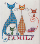 15-1222 Cat Family Cat Family 116w x 129h MarNic Designs