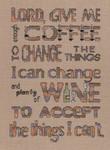 15-1875 Enough Coffee - Plenty Of Wine 101w x 140h MarNic Designs