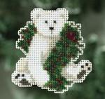 MH180306 Mill Hill Seasonal Ornament Kit Holiday Polar Bear (2010)