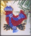 MH105 Mill Hill Seasonal Ornament / Pin Kit Snowcapped Red Bird (2002)