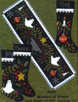 "WONDERS OF WINTER (WAP) Table Runner 14"" x 43"", Stockings 18"" All Through The Night"