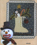 "SKATING THROUGH THE HOLIDAYS (WAP) Snowman 5"" x 7"", Penny Rug 17"" x 21"" All Through The Night"