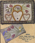 "FAITH, HOPE, & LOVE (WAP) Rug: 17 1/2"" x 25"", Pillow: 15"" x 9"" All Through The Night"