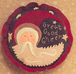 1999 Santa Ornament: Great Good Cheer Homespun Elegance YT