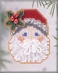 H109 Mill Hill Seasonal Ornament Kit Mistletoe Santa (2003)
