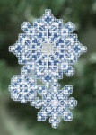 MH180303 Mill Hill Seasonal Ornament / Pin Kit Snowflakes (2010)