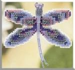 MHDF1 Mill Hill Seasonal Ornament / Pin Kit Sapphire Dragonfly (2000)
