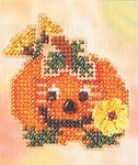 MHAH69 Mill Hill Seasonal Ornament / Pin Kit Pumpkin Smile (2005)