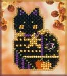MHAH43 Mill Hill Seasonal Ornament / Pin Kit Haunted Kitty (2001)