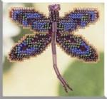 MHDF2 Mill Hill Seasonal Ornament / Pin Kit Royal Mauve Dragonfly (2000)