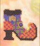 MHAH67 Mill Hill Seasonal Ornament / Pin Kit Wanda's Boot (2005)