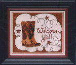 09-1648 AWD-0066 Welcome Y'all  153w x 27h Annalee Waite Designs